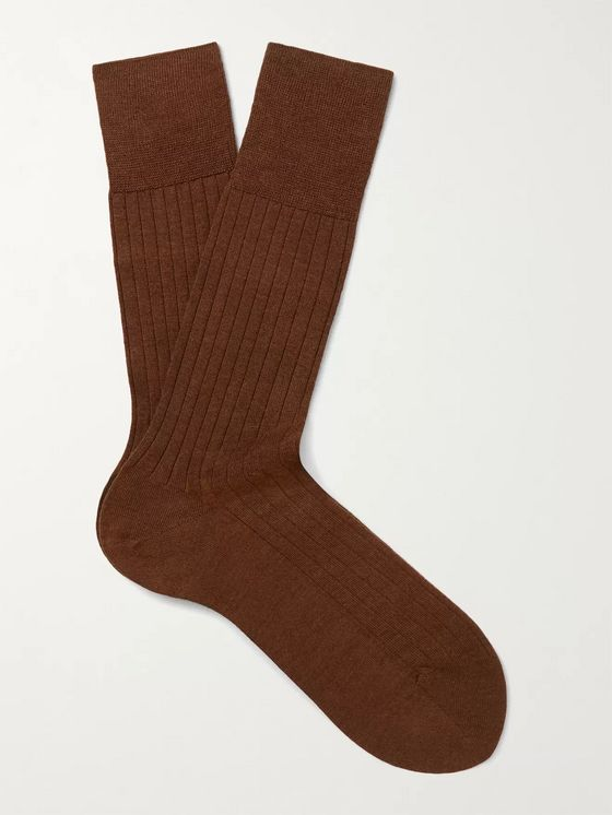 FALKE Ribbed Cashmere-Blend Socks