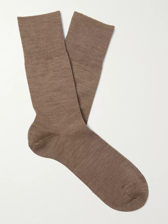 FALKE Airport City Virgin Wool-Blend Socks