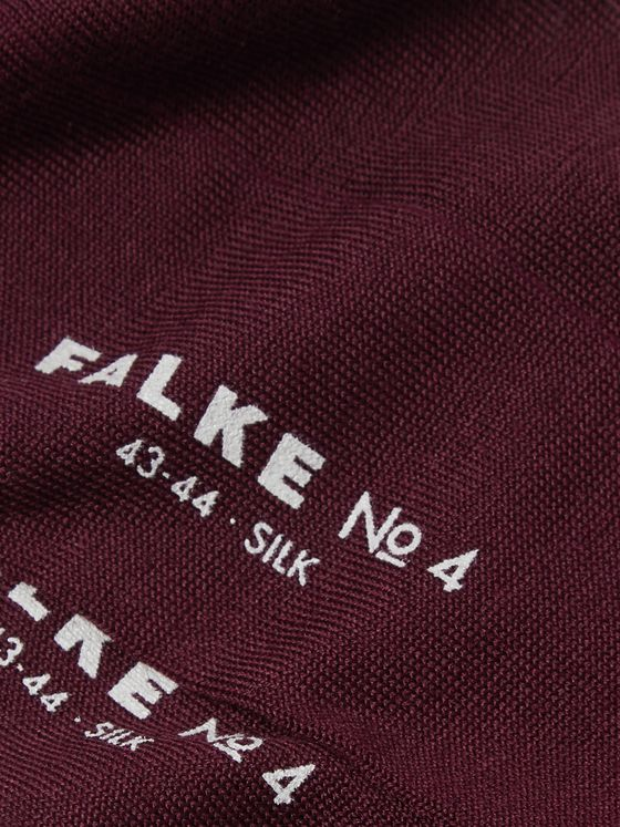 FALKE No 4 Mulberry Silk-Blend Socks