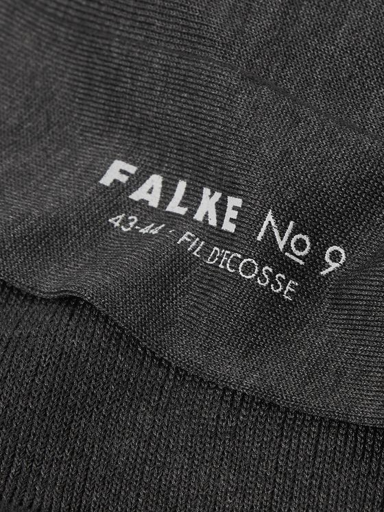 FALKE No 9 Fil d'Ecosse Cotton-Blend Socks