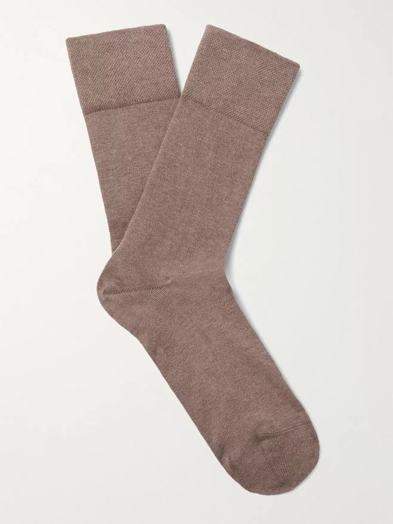 FALKE Sensitive London Stretch Cotton-Blend Socks