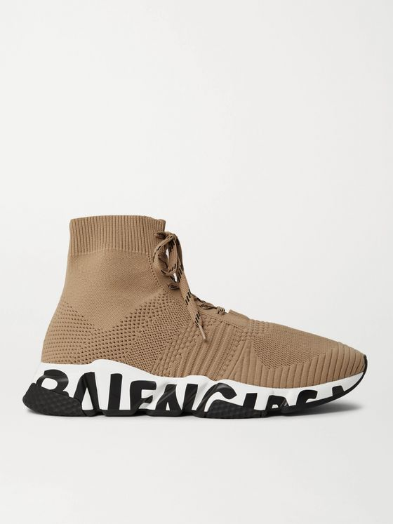 BALENCIAGA Speed Sock Logo-Print Stretch-Knit Sneakers