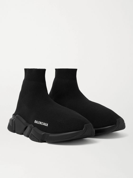 BALENCIAGA Speed Stretch-Knit Slip-On Sneakers