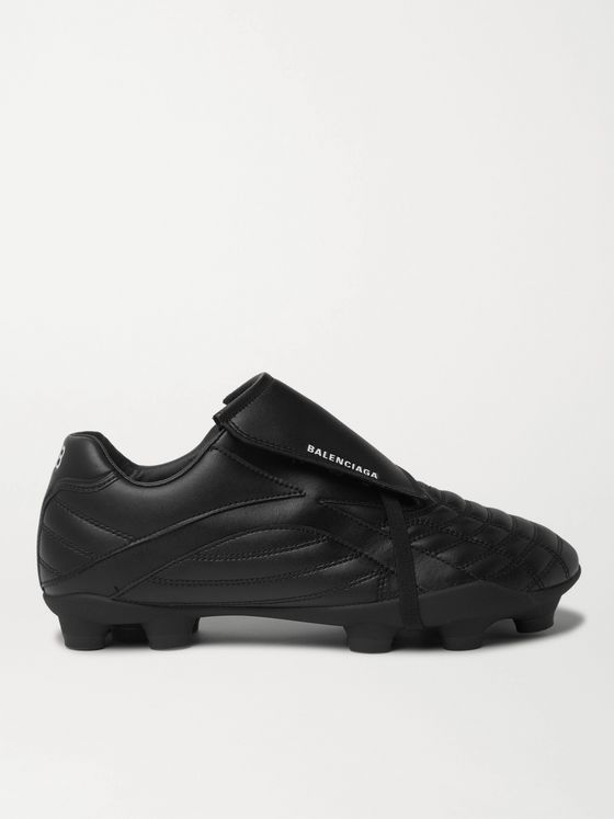 BALENCIAGA Soccer Logo-Print Faux Leather Sneakers