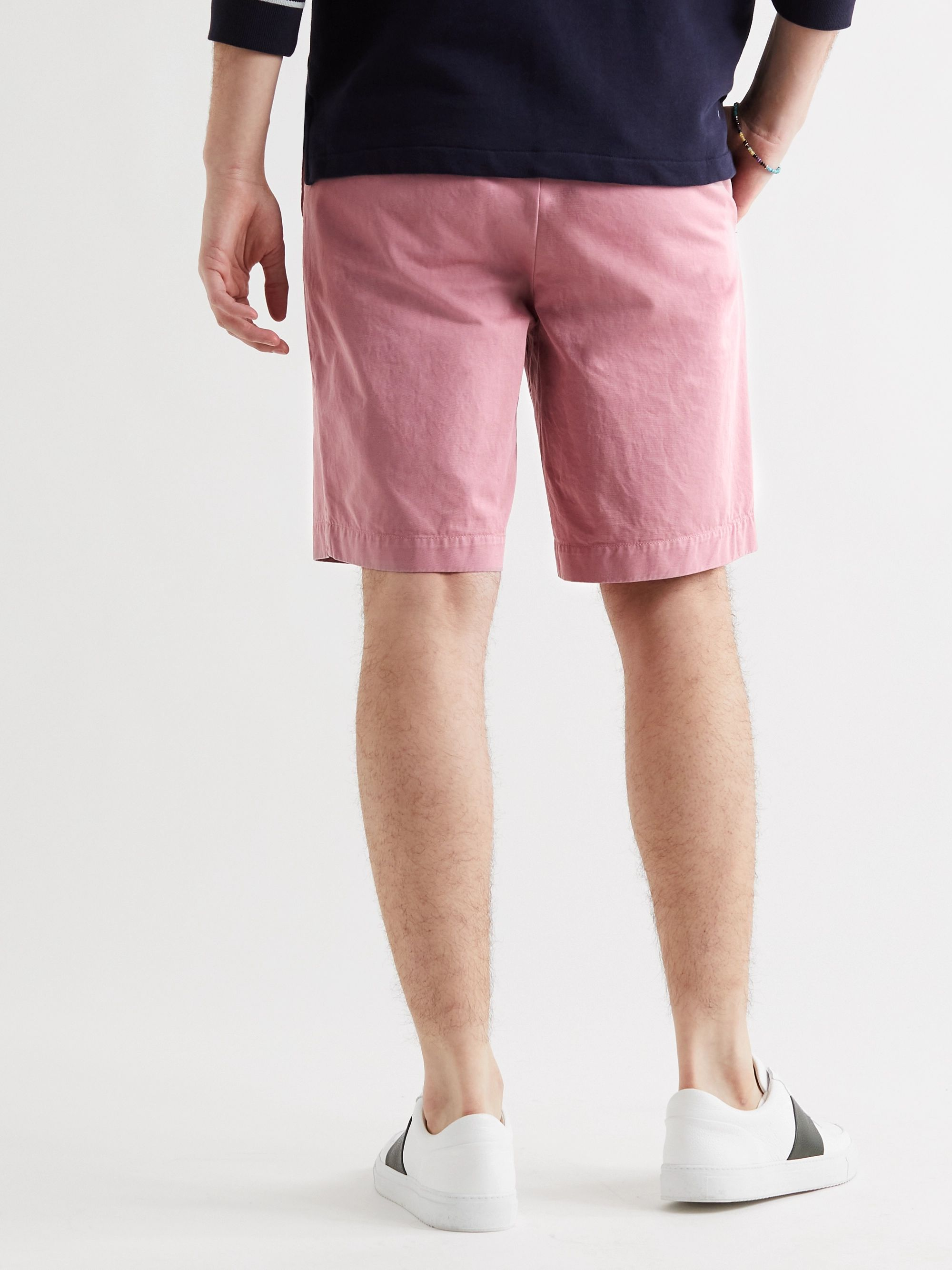 MR P. Garment-Dyed Cotton-Twill Bermuda Shorts