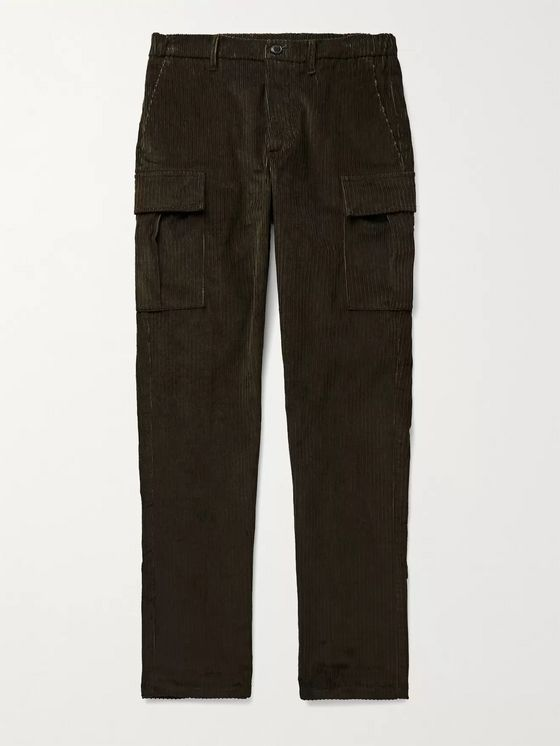 Altea Slim-Fit Cotton-Blend Corduroy Cargo Trousers