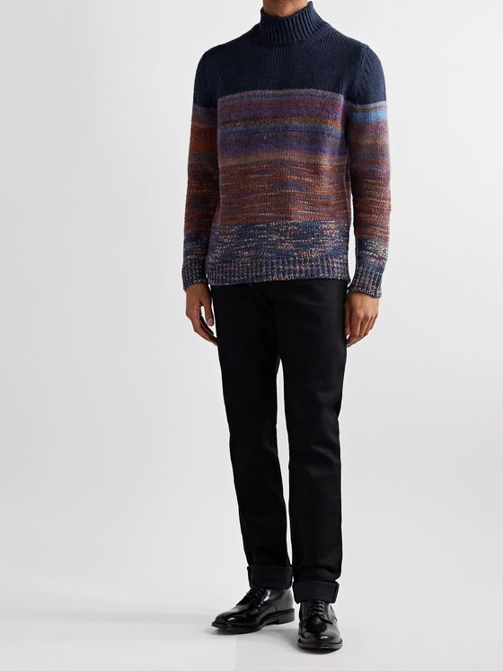 Altea Space-Dyed Knitted Rollneck Sweater