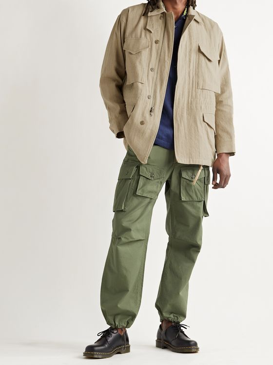 MONITALY Linen and Cotton-Blend Jacket
