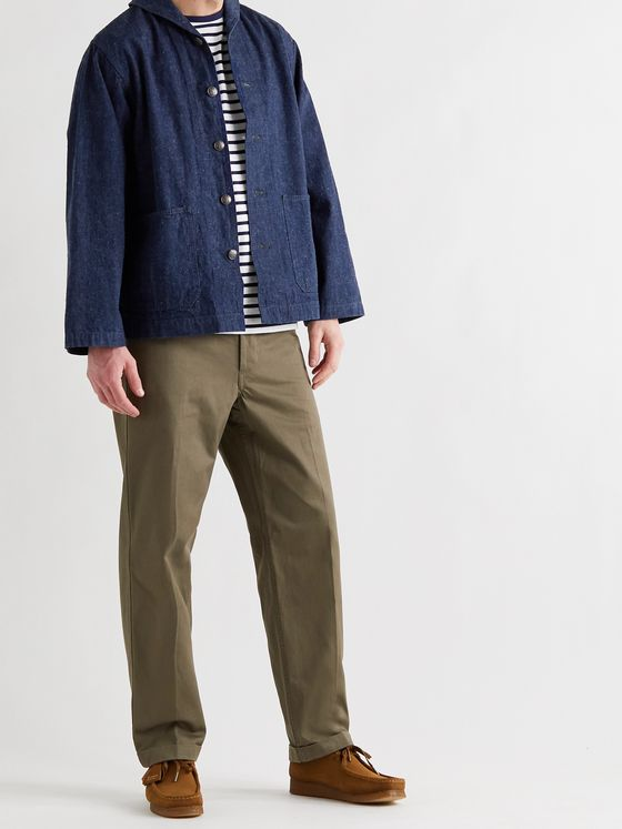 ORSLOW Shawl-Collar Selvedge Denim Deck Jacket