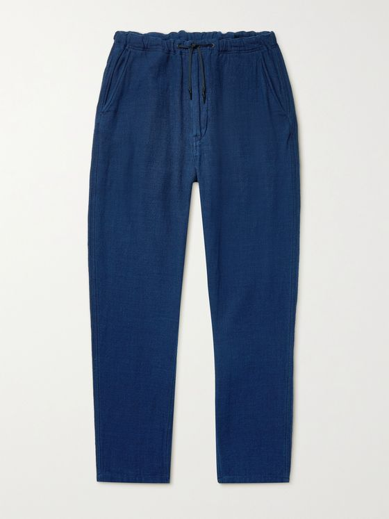 ORSLOW New Yorker Tapered Cotton Drawstring Trousers