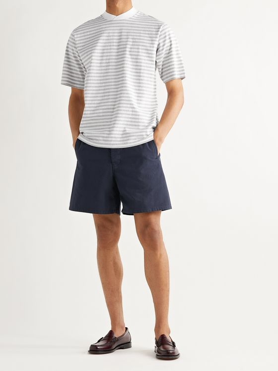 BARBOUR WHITE LABEL Dillon Wide-Leg Cotton Shorts