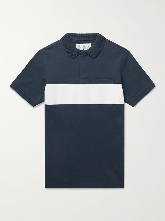 BARBOUR WHITE LABEL Harold Striped Cotton-Jersey Polo Shirt