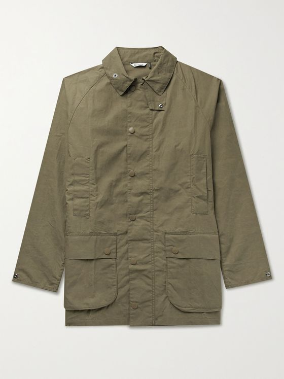 BARBOUR WHITE LABEL Beaufort Slim-Fit Waxed-Cotton Jacket