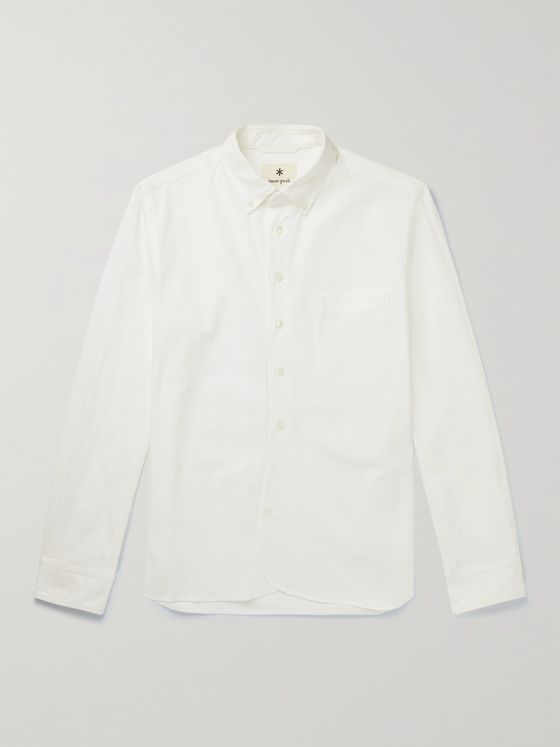 Snow Peak Button-Down Collar Organic Cotton-Poplin Shirt