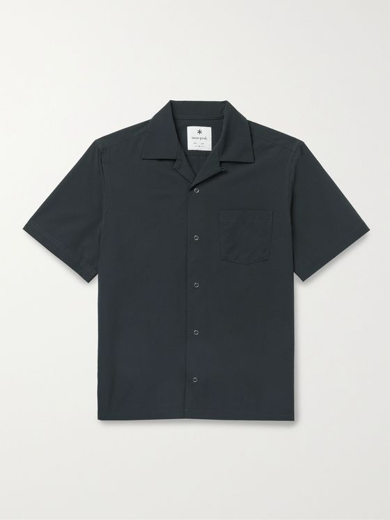 Snow Peak Camp-Collar Toray Dot Air Shell Shirt