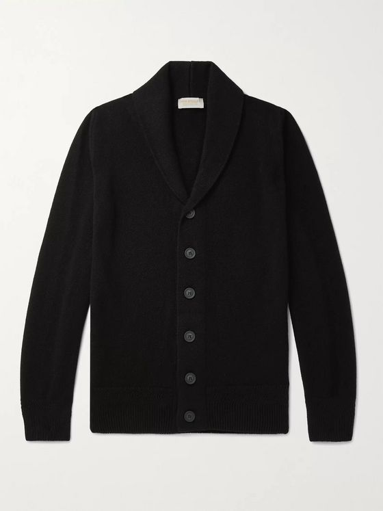 John Smedley Crestwood Slim-Fit Shawl-Collar Wool and Cashmere-Blend Cardigan