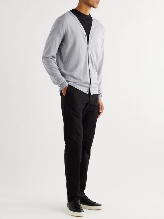 John Smedley Wool and Cotton-Blend Cardigan