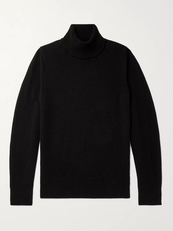 John Smedley Virgin Wool and Cashmere-Blend Rollneck Sweater