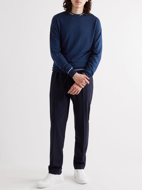 John Smedley Turnbull Slim-Fit Striped Wool Sweater