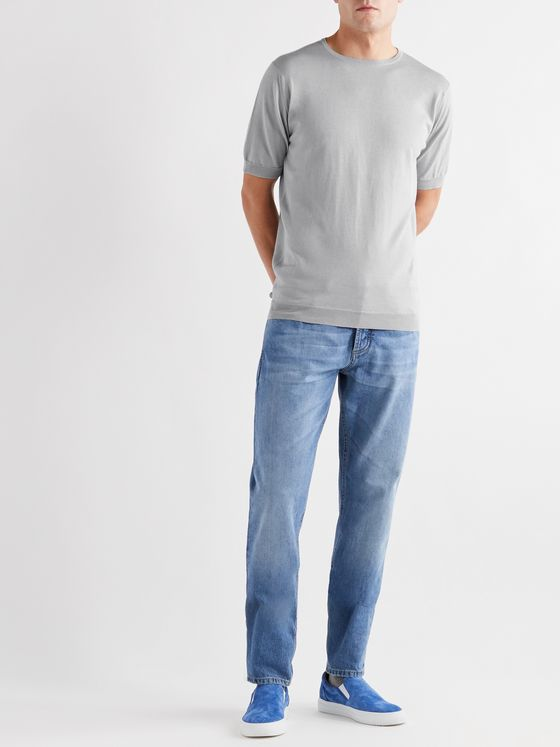 John Smedley Belden Slim-Fit Merino Wool and Sea Island Cotton-Blend T-Shirt