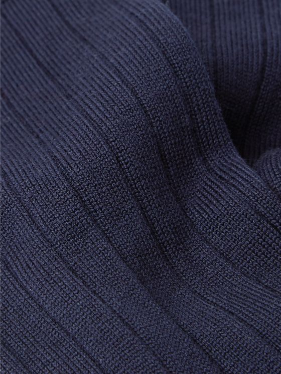 John Smedley Delta Ribbed Sea Island Cotton-Blend Socks