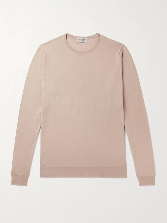 JOHN SMEDLEY Clundy Merino Wool and Sea Island Cotton-Blend Sweater