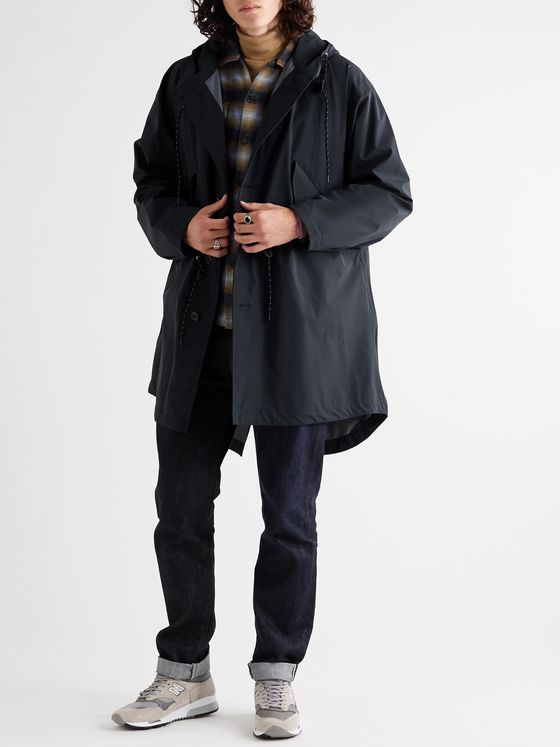 The Workers Club + Mackintosh Packable Shell Hooded Parka