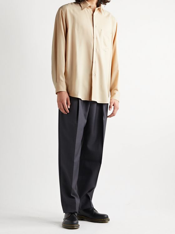 AURALEE Brushed Wool-Twill Shirt