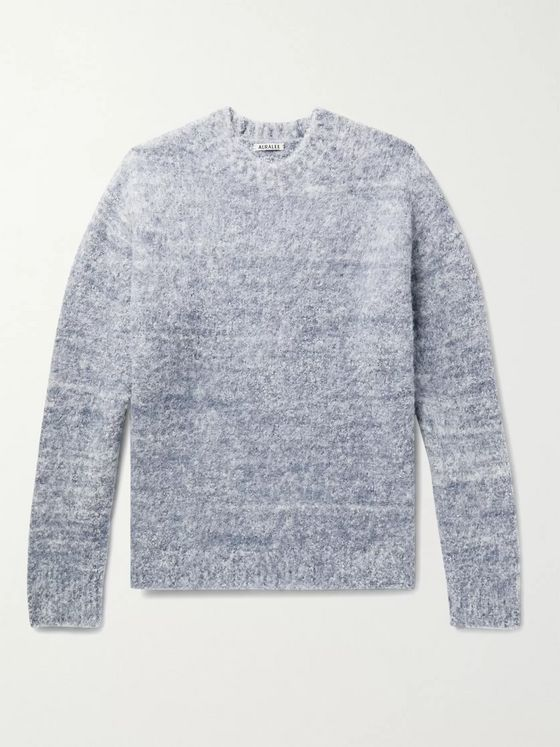 Auralee Brushed Mélange Wool-Blend Sweater