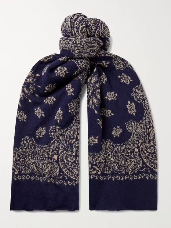 Alex Mill Wool-Jacquard Scarf