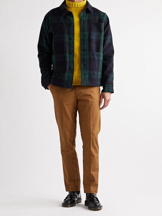 ALEX MILL Checked Wool-Blend Chore Jacket