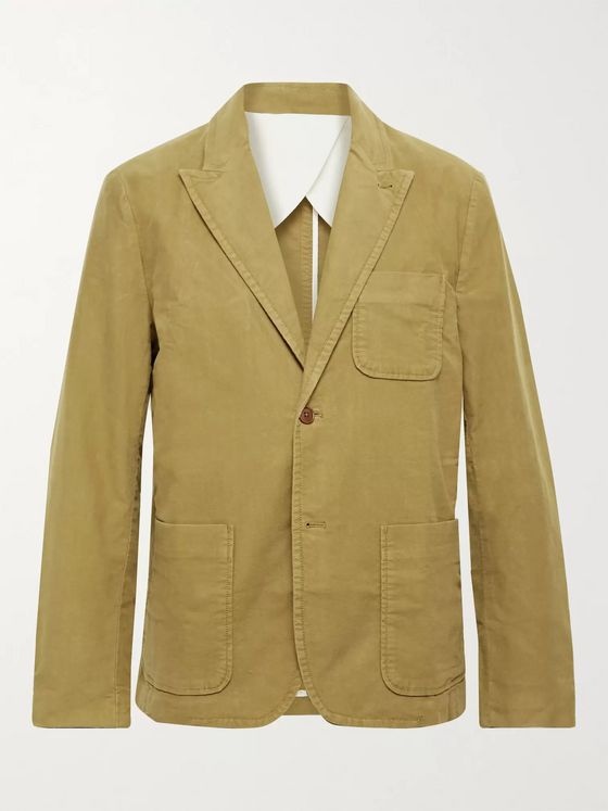 ALEX MILL Mercer Cotton-Blend Moleskin Suit Jacket