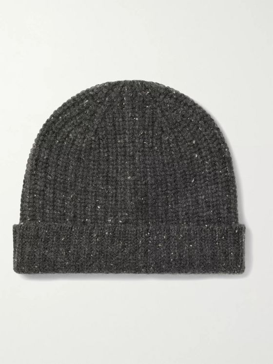 ALEX MILL Ribbed Mélange Cashmere Beanie