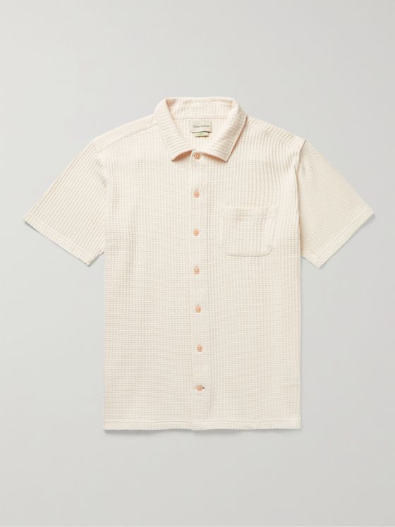 OLIVER SPENCER Waffle-Knit Organic Cotton Shirt