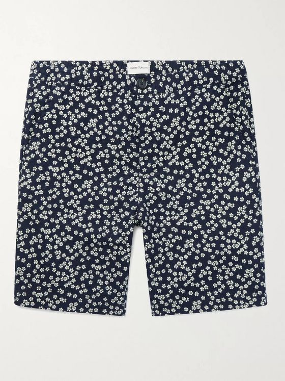 OLIVER SPENCER Stretch-Cotton Drawstring Shorts