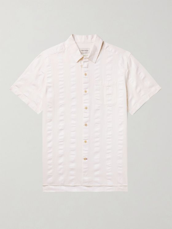 OLIVER SPENCER Striped Linen Shirt