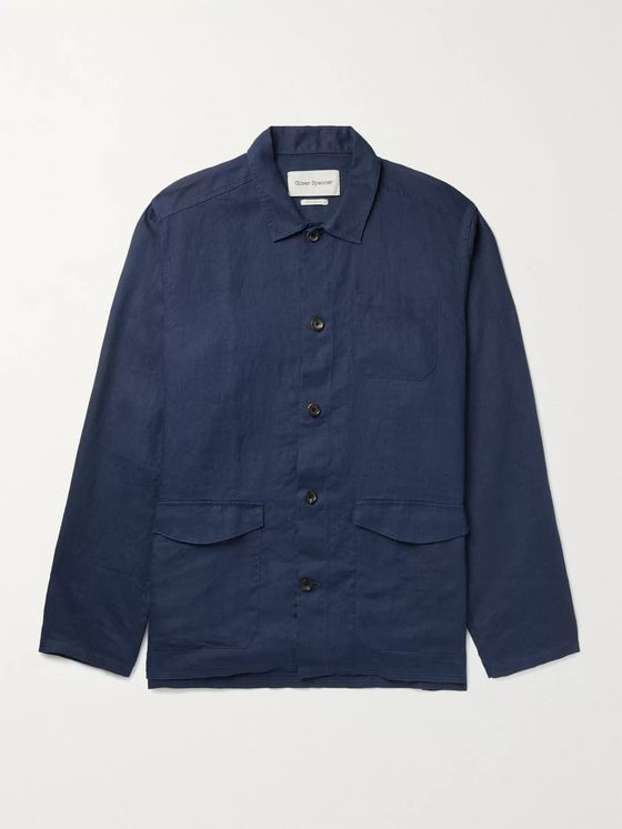 OLIVER SPENCER Hockney Linen Shirt Jacket