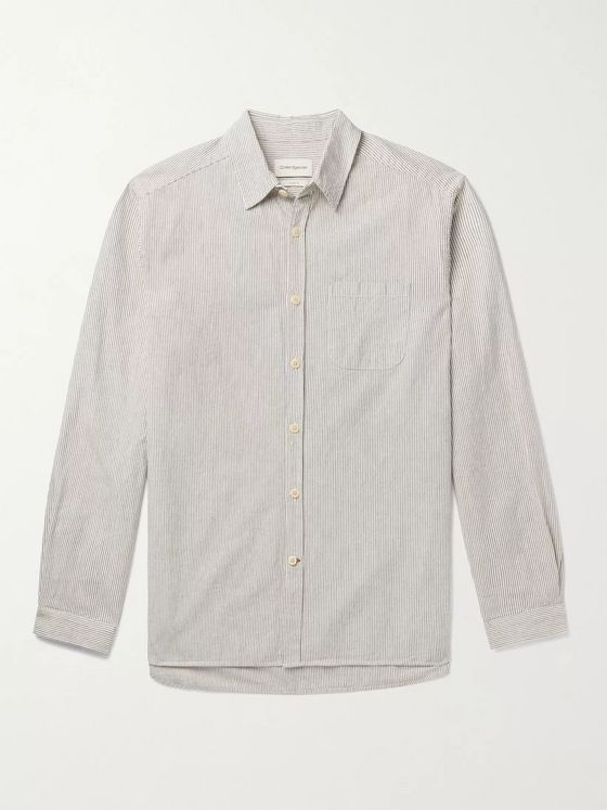 OLIVER SPENCER New York Special Striped Organic Cotton Shirt