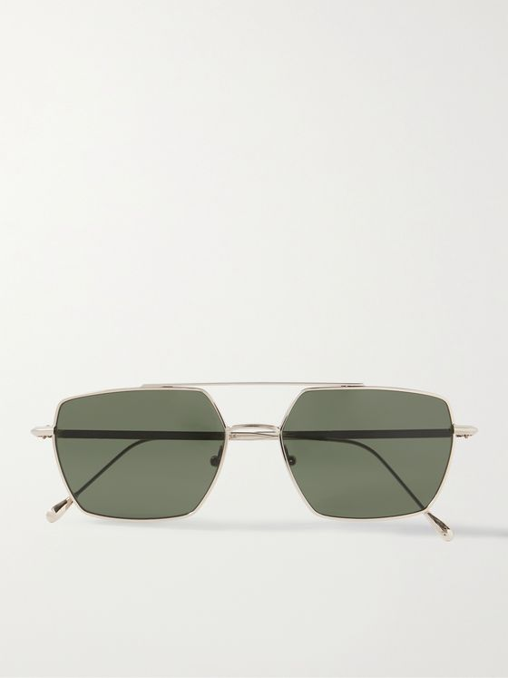 OLIVER SPENCER + MONC Osborne Aviator-Style Gold-Tone Sunglasses