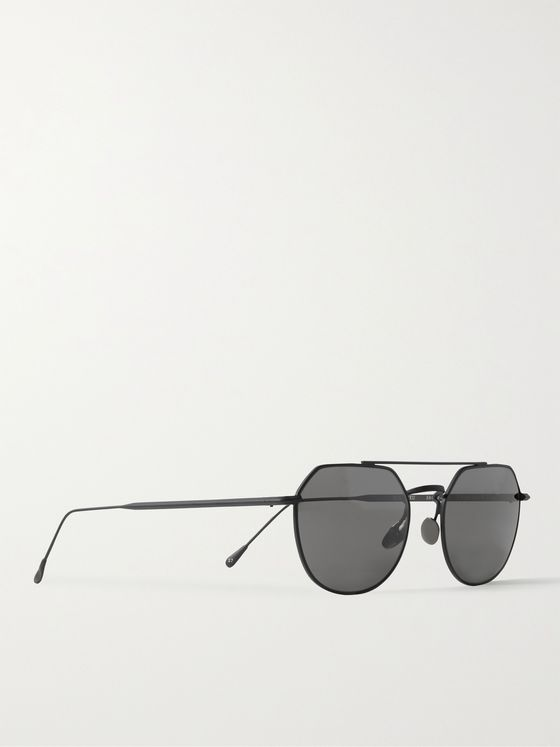 OLIVER SPENCER + MONC Beaulieu Aviator-Style Metal Sunglasses
