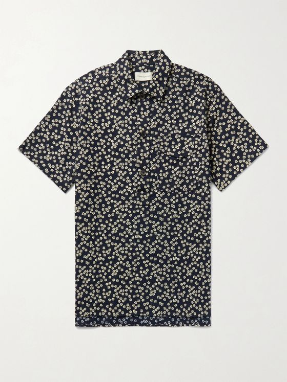 OLIVER SPENCER Dock Floral-Print Cotton Shirt