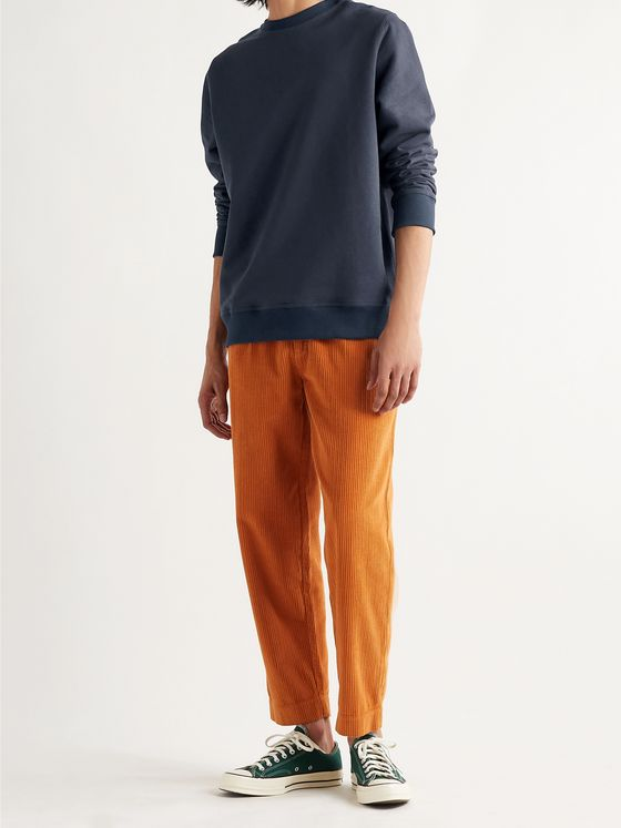 OLIVER SPENCER Robin Loopback Cotton and Linen-Blend Jersey Sweatshirt