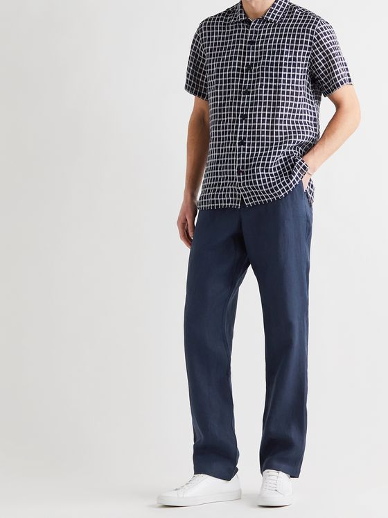 OLIVER SPENCER Linen Trousers