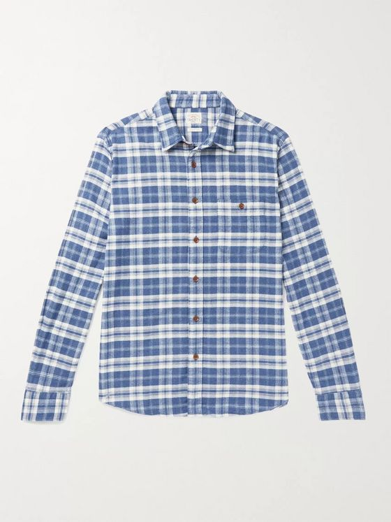 Faherty Seaview Organic Cotton-Flannel Shirt