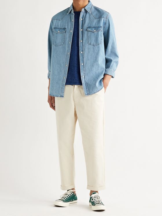 ALEX MILL Cotton-Chambray Shirt