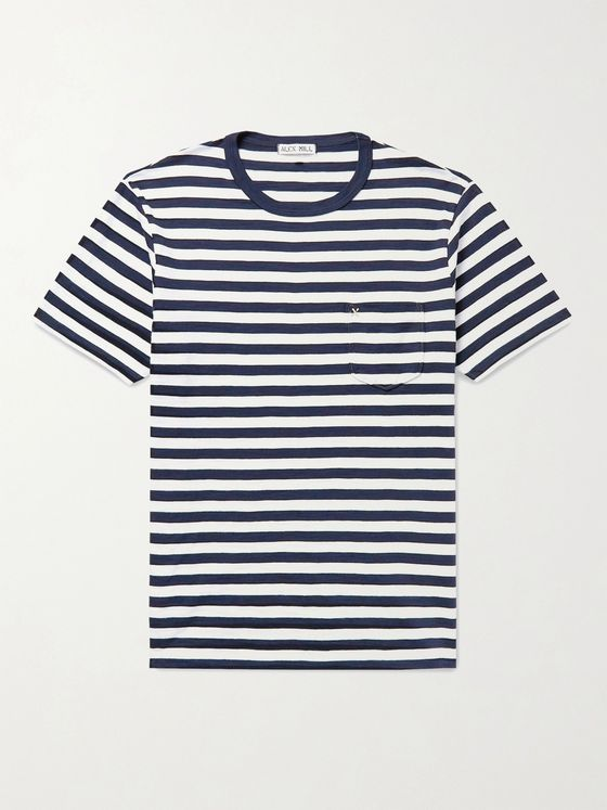 ALEX MILL Standard Striped Slub Cotton-Jersey T-Shirt