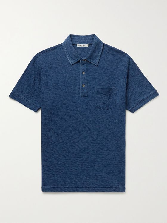 ALEX MILL Standard Slub Cotton-Jersey Polo Shirt