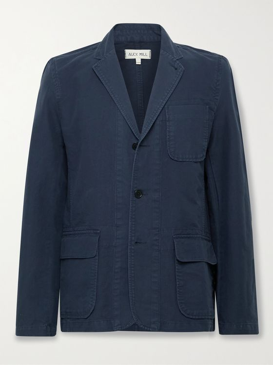 ALEX MILL Mill Unstructured BCI Cotton-Twill Blazer