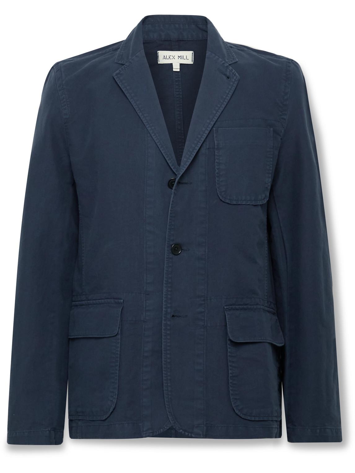 Alex Mill Mill Unstructured Bci Cotton-twill Blazer In Navy