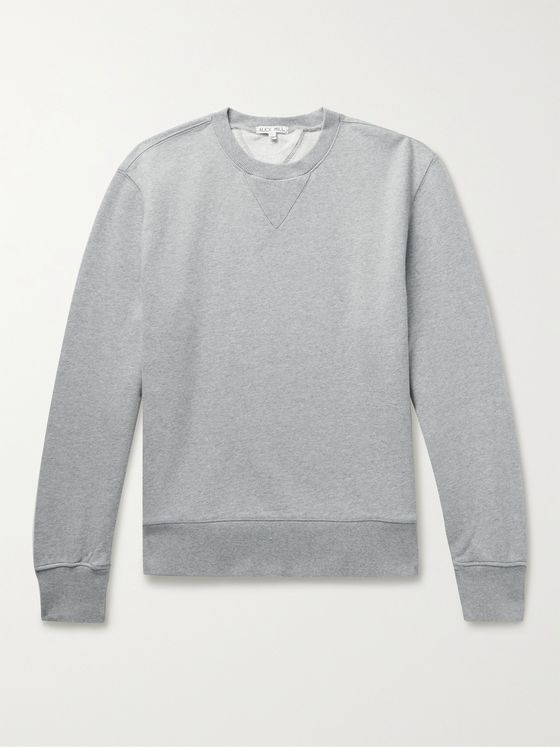 ALEX MILL Mélange Loopback Cotton-Jersey Sweatshirt
